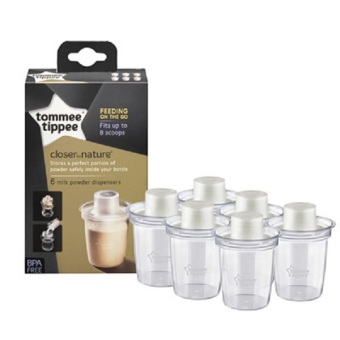 Harga Tommee Tippee Closer To Nature Milk Powder Dispensers x 6
