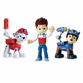 Nickelodeon Paw Patrol Action Pack Pups 3pk Figure Set Marshall Ryder Chase