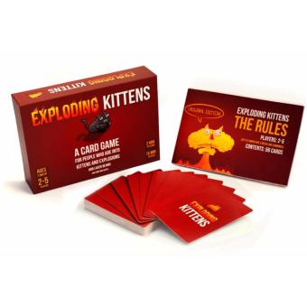 Harga Kittens Cards Board Games Explosion CAT Bumb Kitten Game Original Version Exploding Best Gift for Family PARTY - intl