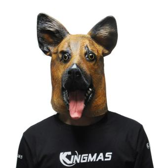Harga Big Wolf Dog Latex Mask (Brown) - intl