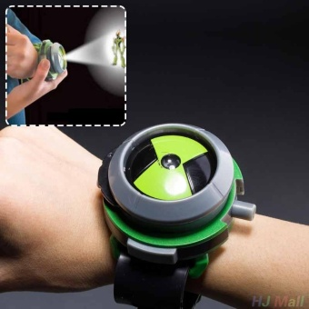 Harga BANDAI Ben10 Projector Watch Cartoons Watches Toy Ben 10 Projector Gifts Kids - intl