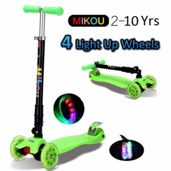 Harga 4 wheels Kids Scooter GREEN(Green)