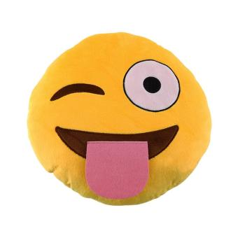 Harga CHEER Soft Emoji Smile Emoticon Pretty Round Cushion Pillow Stuffed Plush Toy