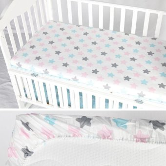 Harga 70*130cm Nordic Cotton Cloud Star Printed Baby Bedding Sheets Bed Linen - intl