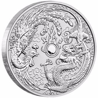Harga Australian 2017 Dragon & Phoenix 1 oz Silver Bullion Coin (Infinitium Collection)