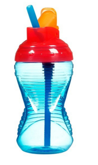 Munchkin Mighty Grip Flip Straw Cup, Red/Blue