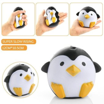 Cute Penguin Squeeze Stretch Soft Slow Rising Restore Fun Toy Gift White - intl