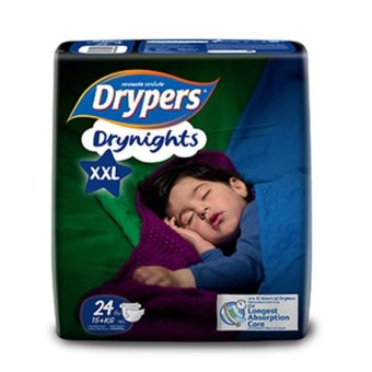Harga Drypers Drynights Diapers 15+kg XXL 24S x 4 (96pcs)