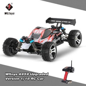 Harga Original Wltoys A959 Upgraded Version 1/18 Scale 2.4G Remote Control 4WD Electric RTR Off-Road Buggy RC Car - intl