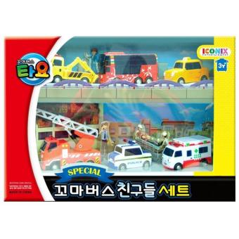 Harga The Little Bus TAYO ICONIX Special Mini FRIENDS Set No.1 (Toto+Citu+Nuri+Frank+Pat+Alice) - intl