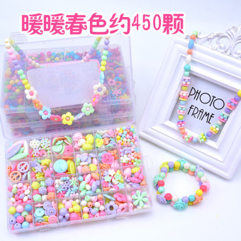 Harga Girls 5-6-7-8-9-10-12 two and a half years old wear diy handmade beaded beads toys for girls birthday gift for girls