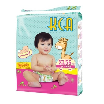 KCA Baby Diapers Size XL (12-17kg) 4 packs X 56 pcs