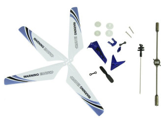 Harga Leegoal Wheel Gear Set Wings Tail Props Balance Bar Full Replacement Parts Set for Syma S107 RC Helicopter(Set of 19,Blue) (Intl) - intl
