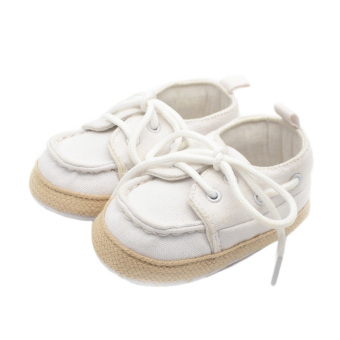Fancyqube Baby Toddler First Walkers Cotton Non-slip Soft Bottom Shoes White