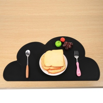Harga Cloud Shape Baby Silicone Anti-slip Dining Table Mat(#1 Black) - intl