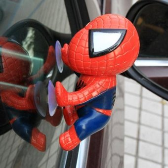 Harga Auto Part Spiderman Suction Car Windows Surface Decoration Accessories - intl