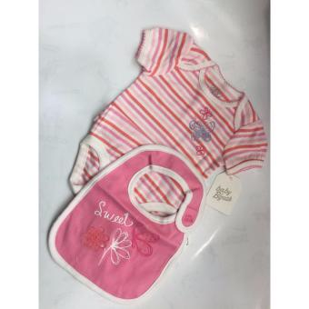 Harga OSHKOSH GIRL BABY ROMPER BIB SET STRIPE (0-6M)