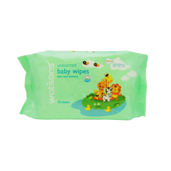 Harga Watsons Unscented Baby Wipes 70's