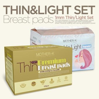 Harga Mother-K Premium Thin Breastpads 108s + Light Breastpads 108s