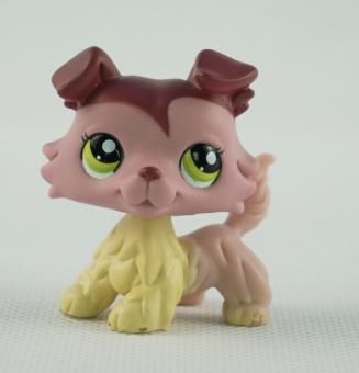 ... LPS Littlest Pet Shop 1723 Kids Toys Green Eyes Girl toys Pink Mauve Collie Dog