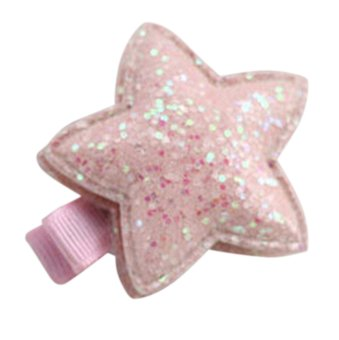 Harga HomeGarden Sequin Barrettes Cute Baby Girl Star Bow Clips Girls Hairpin Pink