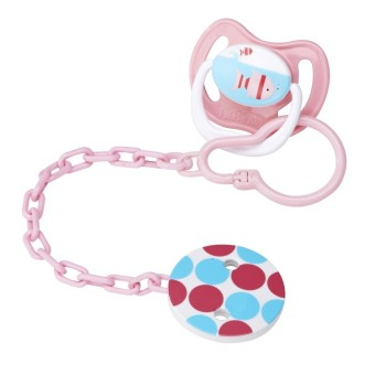 Harga Dr Brown's Pacifier Tether/Clip - Pink