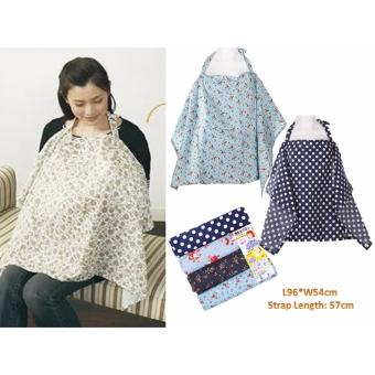 Harga Nursing Cover (Dark Blue with White Polka Dots)
