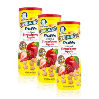 Harga GERBER® GRADUATES® Puffs Strawberry Apple 42g x 3 pcs