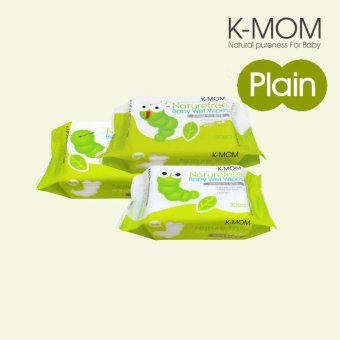 Harga K-Mom Organic Portable Wipes (30s x 3)