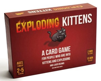 Red Children and Adult Edition Exploding Cards Game Explosion Original Exploding Kittens for Imploding Cards Board Game - intl