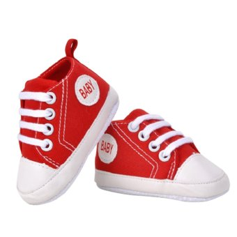 Harga Babys First Walkers Shoes (Red) - Intl