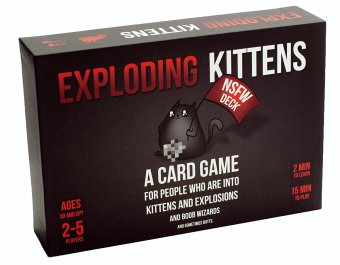 Exploding Kittens Card Game NSFW -