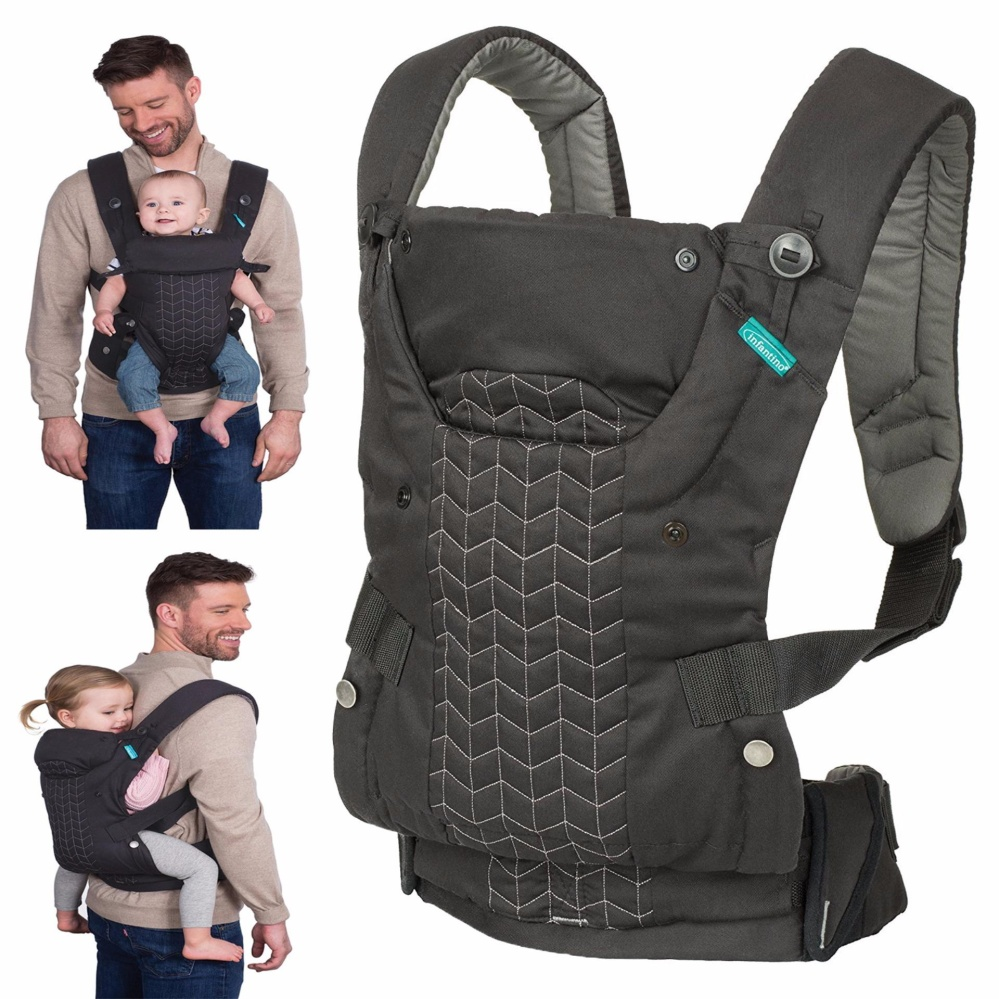 Infantino Upscale Carrier Black One Size Intl Singapore