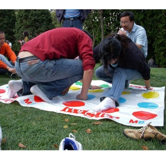Harga Kids Body Twister Moves Play Board Game Group Party Outdoor SportGift - intl