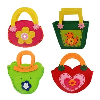 Kids Children Hand Bag Non Woven Fabric Building Crafts Puzzle DIY Toy - intl