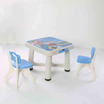 Kindergarten plastic tables and chairs