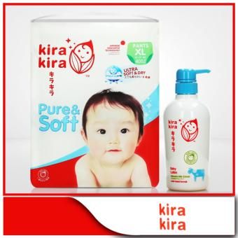 KIRA KIRA Baby Diapers Pants XL 40pcs + Kira Kira Baby Lotion 380ml