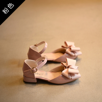 Korean-style Cooljie scoop shoes children's leather shoes