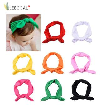 Leegoal 8x Baby Girl Elastic Turban Headbands Head Wrap Rabbit Ear Hair Band