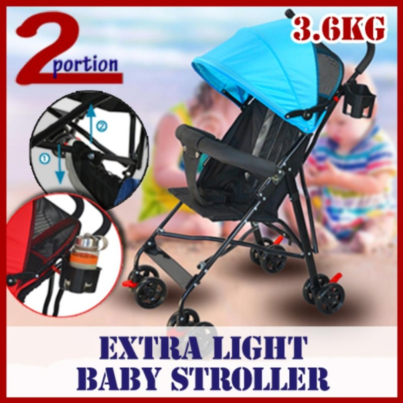 Lightweight Baby Stroller - Basic - Blue Singapore