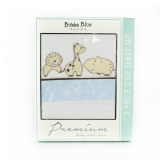 Bubba Blue Little Safari Cot Sheet Set