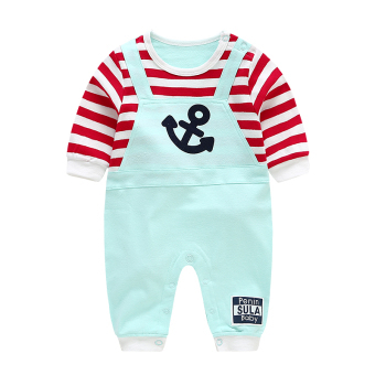 Male and female baby coveralls summer newborn children clothes 0-3 month cotton climbing clothes thin section romper baby out clothes