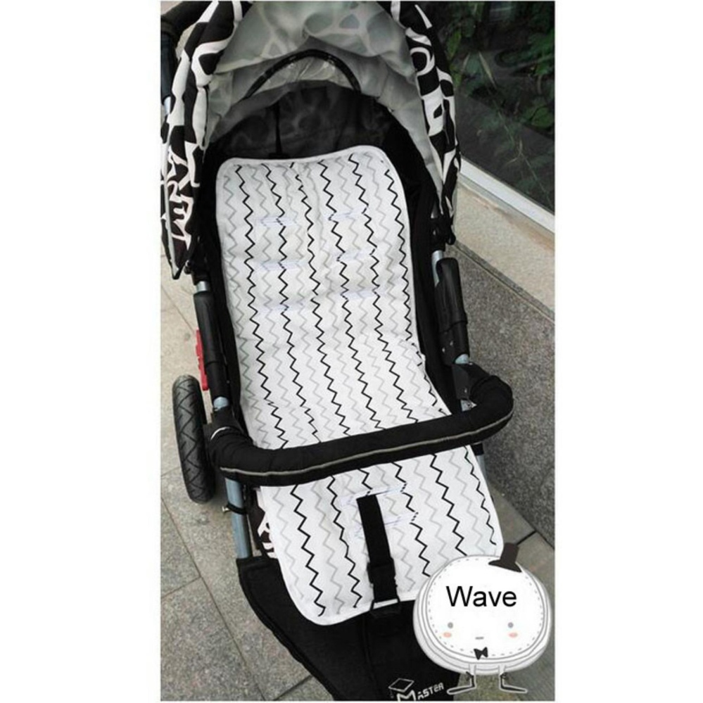 Miracle Baby Soft Breathable Pure Cotton Stroller Liner Mat Pram Seat Accessories Portable Changing Pad, ...