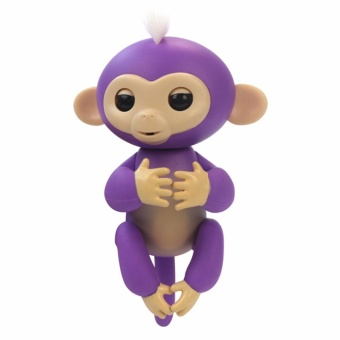 Monkey Toys, Lary in tel Finger Pet Monkeys Interactive Baby Monkey Children Kids Toy (White) - 2