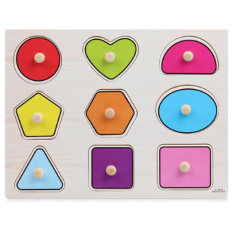 Montessori early childhood educational toys digital master hand clutch plate jigsaw puzzle wooden children's baby puzzle baby cognitive learning to number
