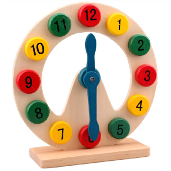 Montessori early childhood time clock wooden puzzle