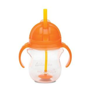 Munchkin Click Lock Weighted Flexi Straw Cup 7oz, Orange