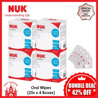 NUK Oral Wipes 25 Sachets (4 Boxes) - GSS ...