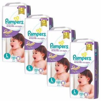 Pampers Premium Care Tape Diapers L 40s x 4 Packs (9-14kg) (Japan Version)