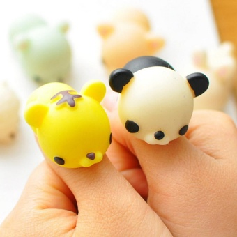 Panda Colorful Adorable Cute Animal Hand Wrist Squeezing Fidget Toys Squishy Mini Stress Relief Squeeze Doll Slow Risng Venting Ball - intl